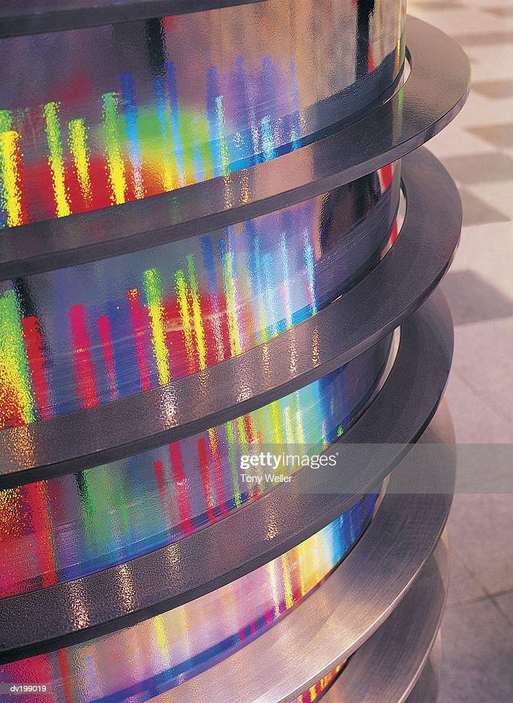 Colorful interior column : Stock Photo