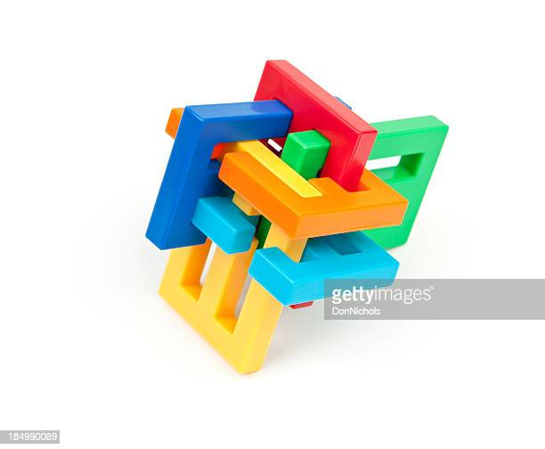 Colorful Interlocking Puzzle