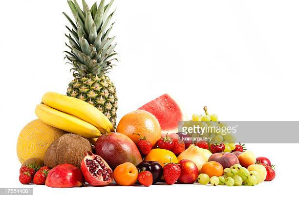 colorful isolated fruits composition