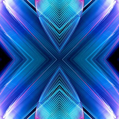 Colorful Kaleidoscope element on black - gettyimageskorea