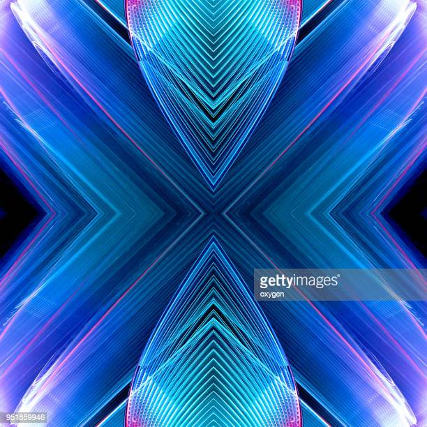 colorful kaleidoscope element on black - lineart stock-fotos und bilder