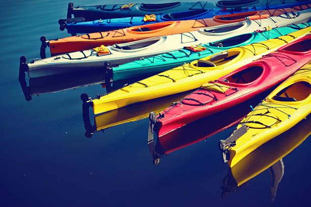 Colorful Kayaks Wall Art