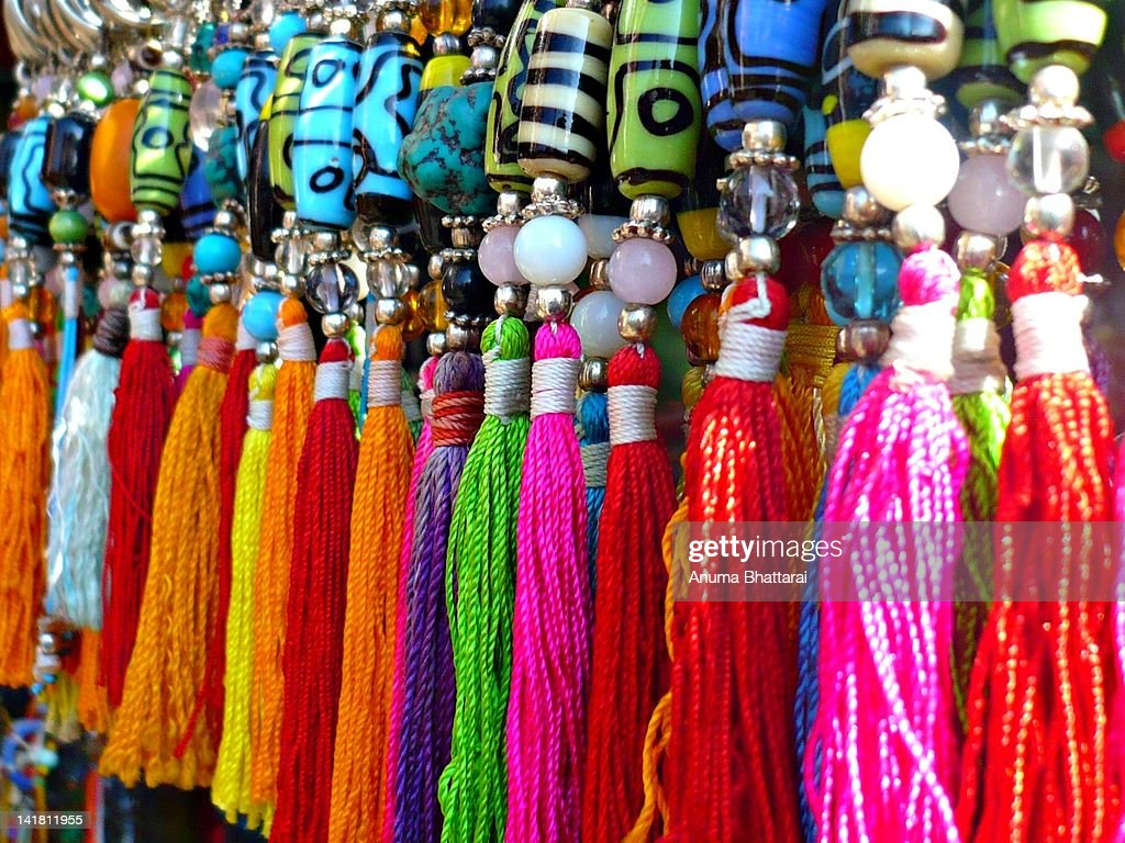 Colorful key rings : Stock Photo