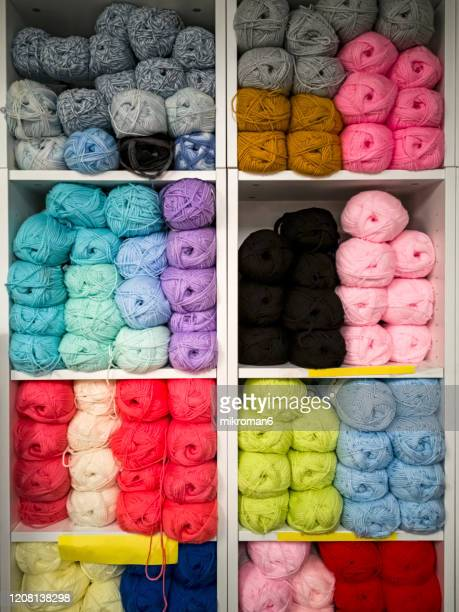 colorful knitting wool - craft stock pictures, royalty-free photos & images
