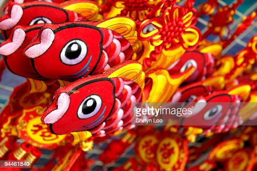 Colorful Koi Fish Chinese New Year Decoration High-Res ...