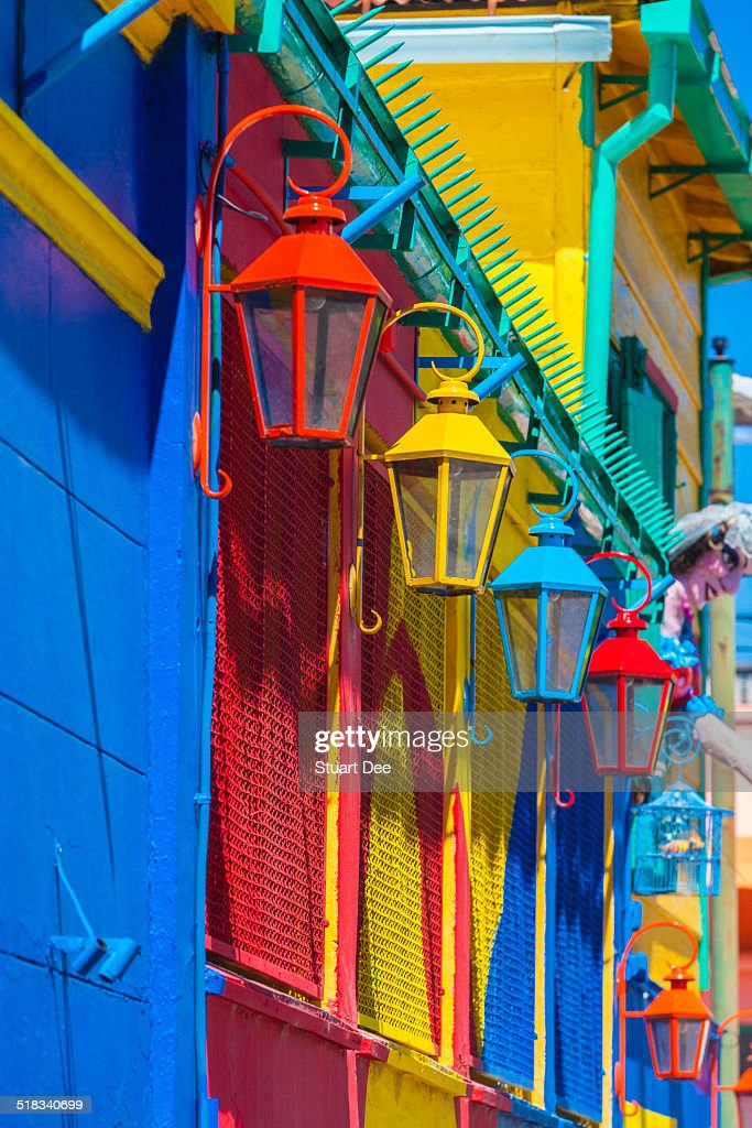 Colorful lamps and facades : Stock-Foto