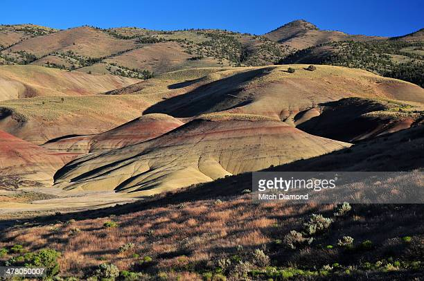 colorful landscape of the painted hills - john day fossil beds national park stock pictures, royalty-free photos & images