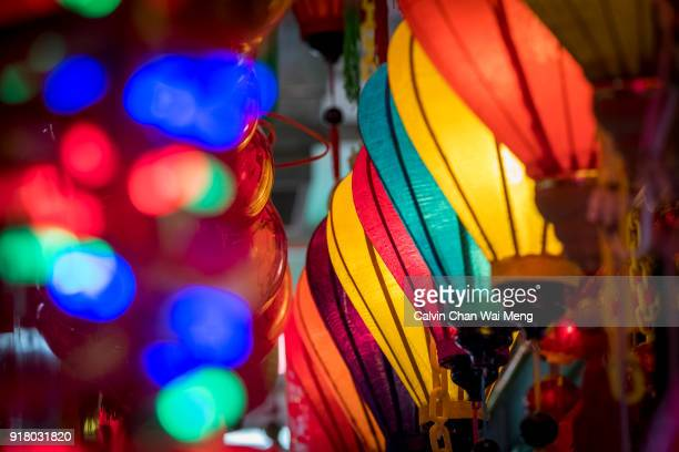 colorful lantern decorations for chinese nee year - nee nee stock pictures, royalty-free photos & images