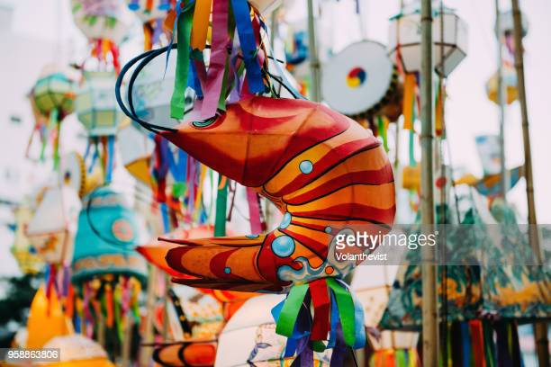 colorful lanterns at jogyesa temple, seoul, south korea - korean culture stock pictures, royalty-free photos & images