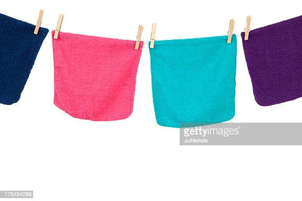 Colorful Laundry Hanging on Clothesline