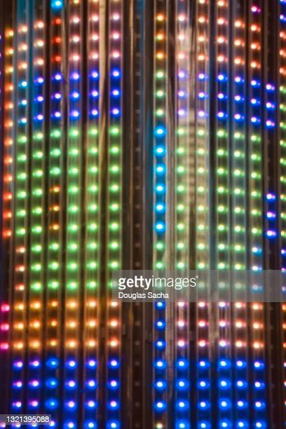colorful led light show background - extremism stock pictures, royalty-free photos & images