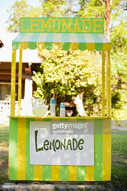 Colorful lemonade stand