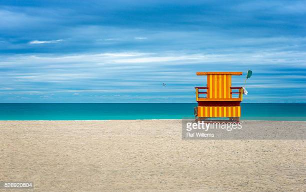 Colorful Life Guard house on the beach
