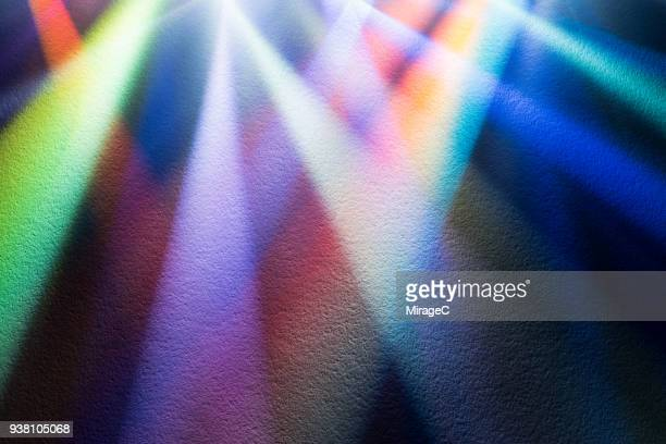 Colorful Light Beam Shining on Paper Texture