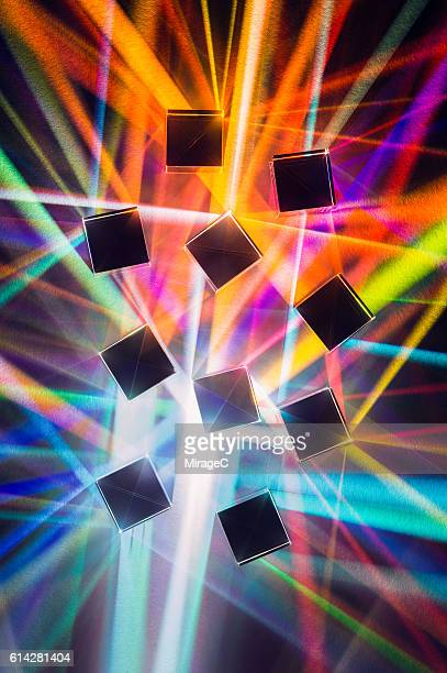 Colorful Light Refracting among Cube Prisms