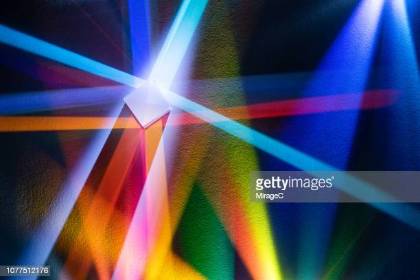 colorful light refraction - refraction stock pictures, royalty-free photos & images