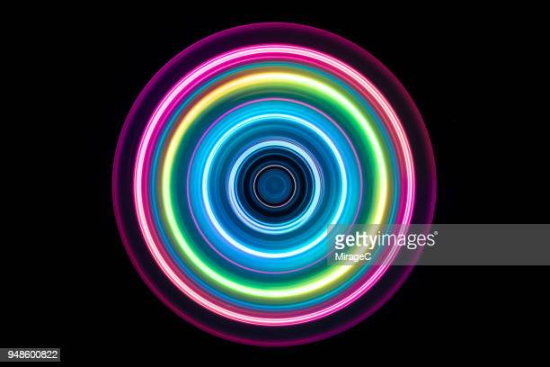 Colorful Light Trail Swirl