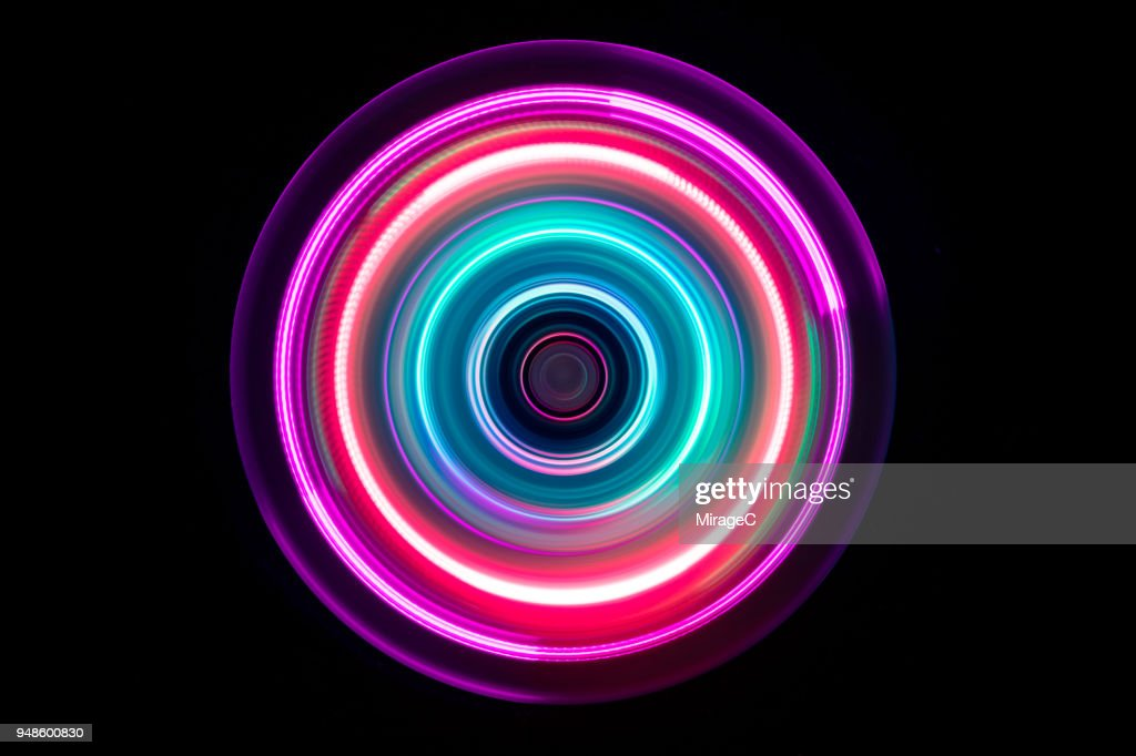 Colorful Light Trail Swirl : Stock Photo