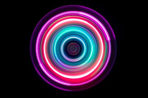 Colorful Light Trail Swirl - gettyimageskorea