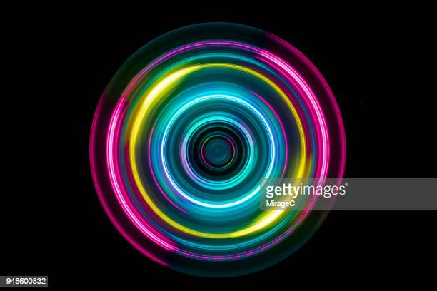 colorful light trail swirl - image stock pictures, royalty-free photos & images
