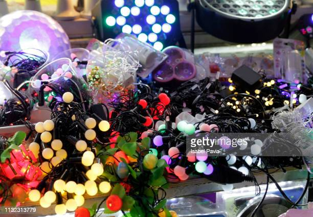 Colorful lights on sale at Market Stall