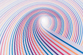 Colorful Lines Swirl Shaped Illusion
