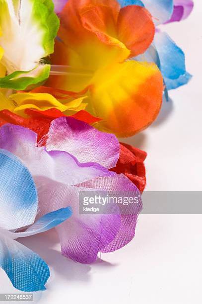 colorful lei - hawaiian lei stock pictures, royalty-free photos & images