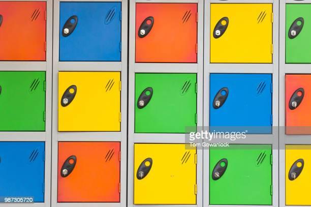 Colorful lockers