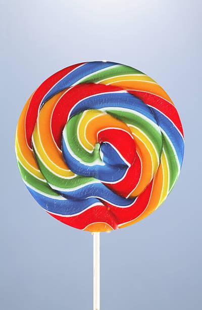 Colorful lollipop, studio shot