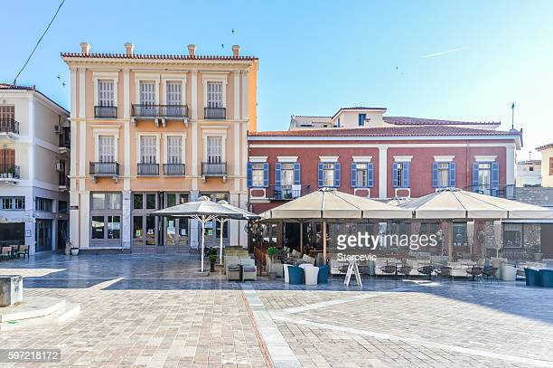 Colorful main square of Greek town - Nafplio, Greece