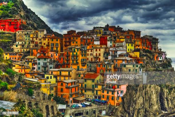 Colorful Manarola Village HDR