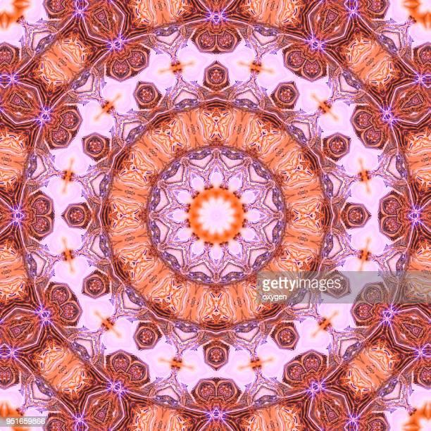 Colorful mandala illustration art