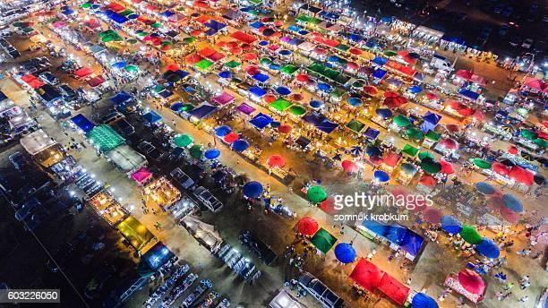 Colorful market at Sattaheep;Thailand
