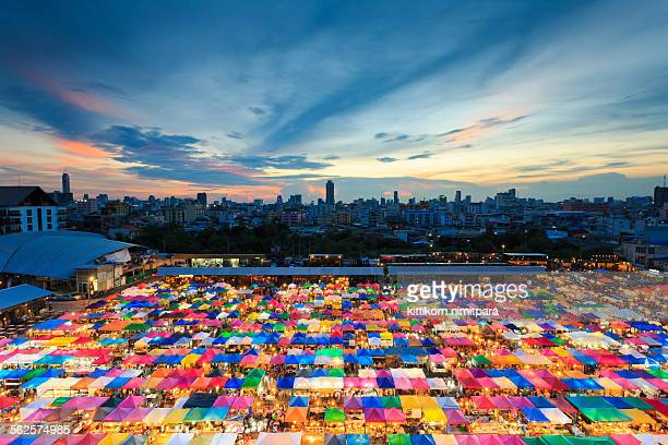 colorful market,bangkok - association of southeast asian nations stock pictures, royalty-free photos & images
