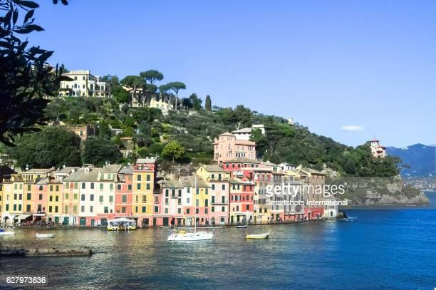 Colorful medieval old town of Portofino by the Mediterranean sea, Italian Riviera, Italy