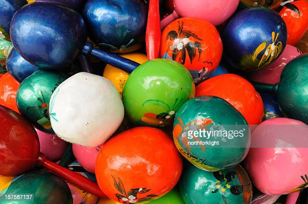 maracas couleurs mexicaines