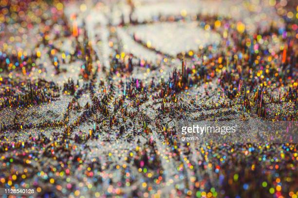 colorful miniature topographic abstract background - topography stock pictures, royalty-free photos & images