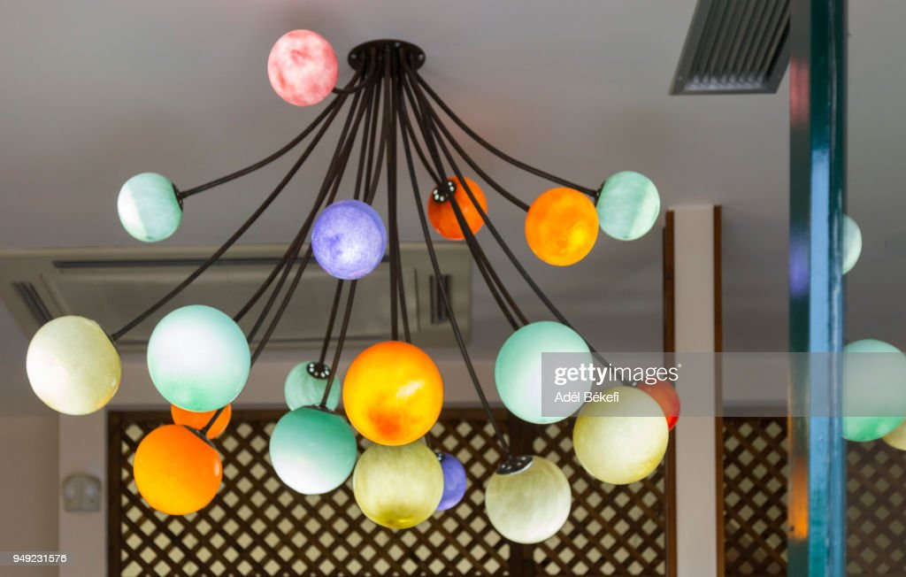 colorful modern lamps Hanging : Stock Photo