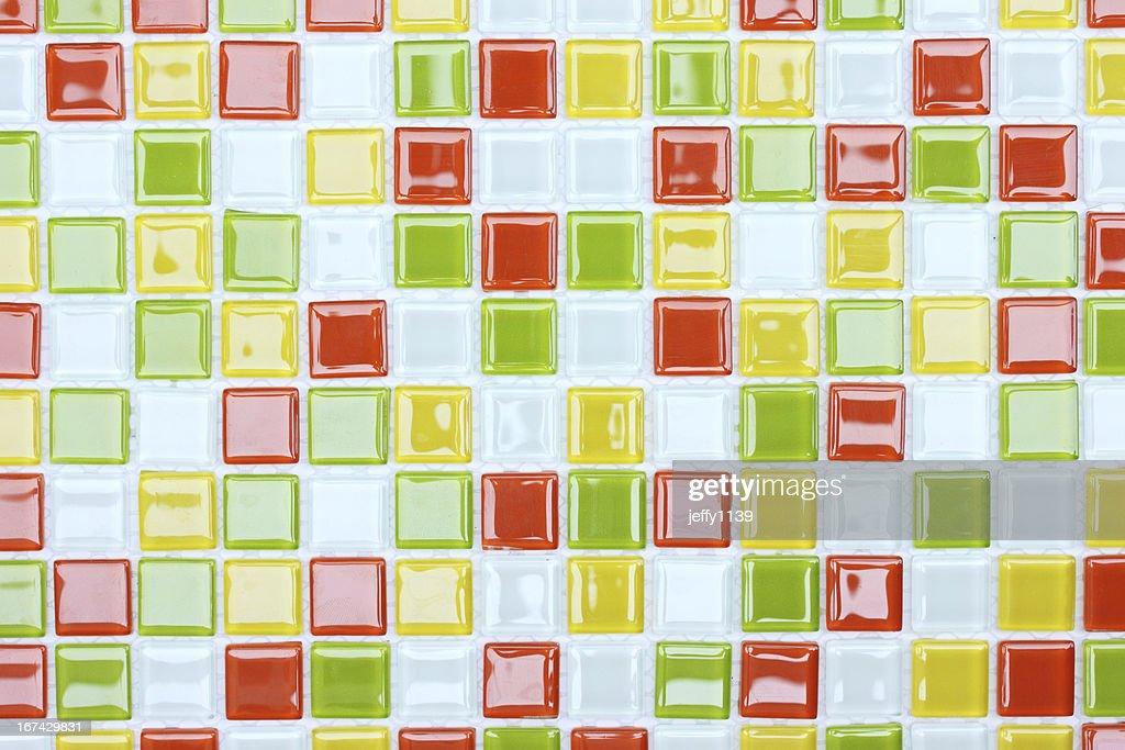 Bunte Mosaik Fliesen, Hintergrund : Stock-Foto