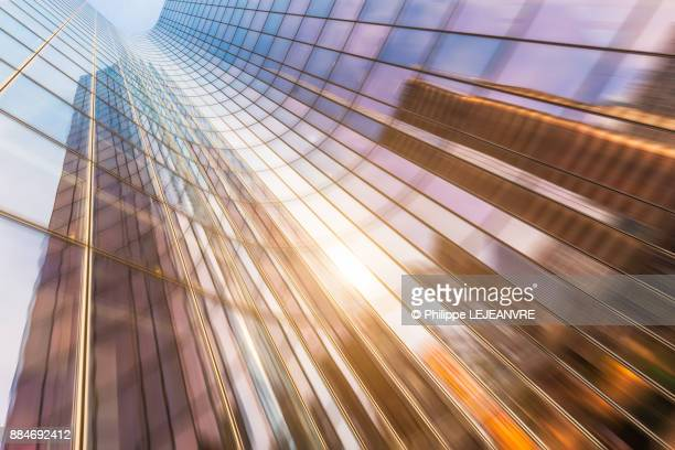 Colorful motion blurred building