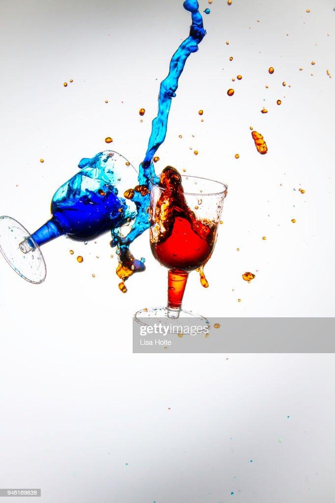 Colorful Motion Water Splash : Stock Photo