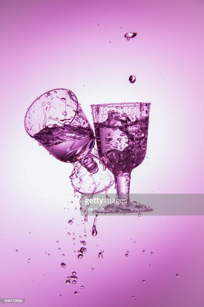 Colorful Motion Water Splash : Stock Photo