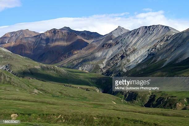 Colorful mountains, Alaska Range