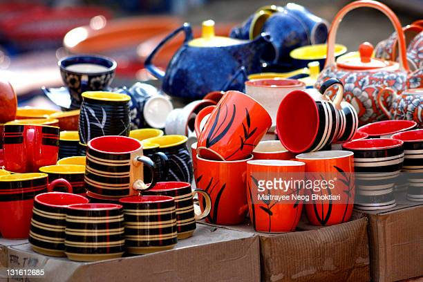 colorful mugs - faridabad stock pictures, royalty-free photos & images