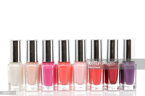 Colorful nail polish bottles