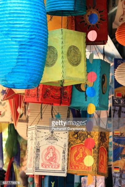 Colorful Nepalese Traditional Paper Lanterns