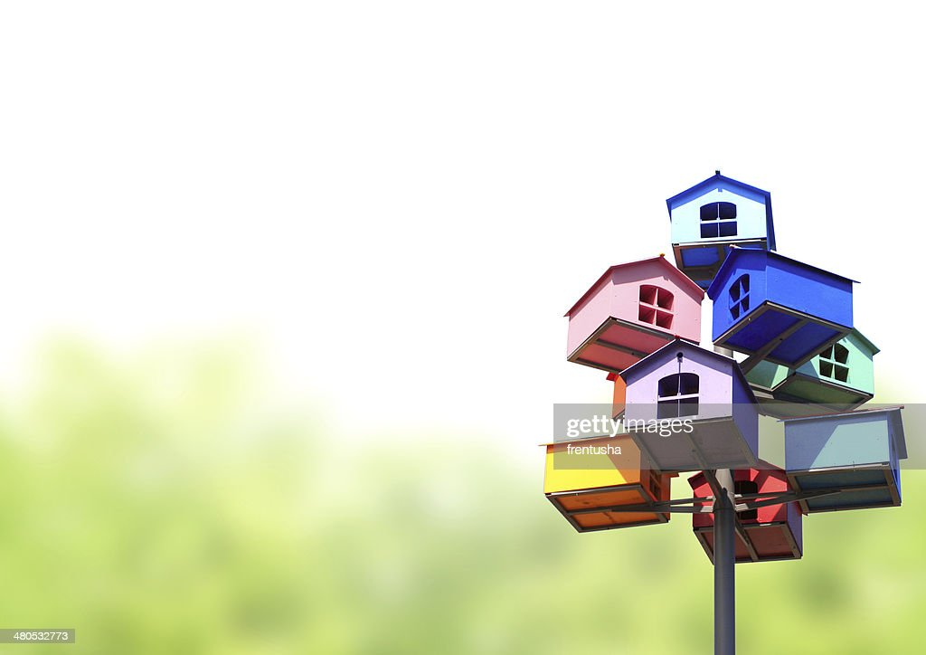 Colorful nesting boxes : Stock Photo