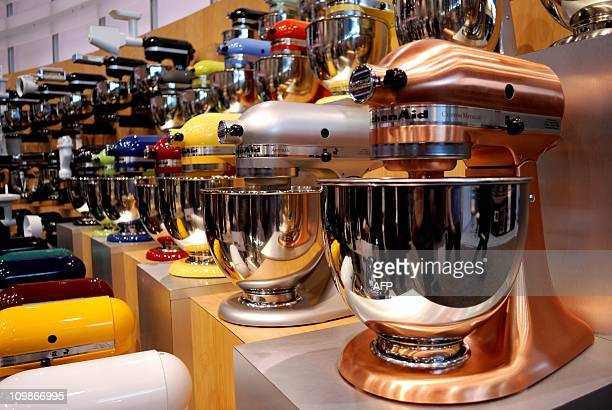 Colorful new mixers by KitchenAid are displayed at the International Home and Housewares Show in Chicago on Monday March 7 2011 Tens of thousands of...