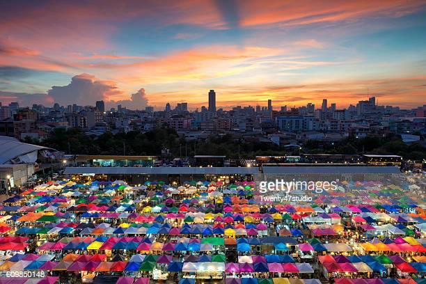 Colorful night market