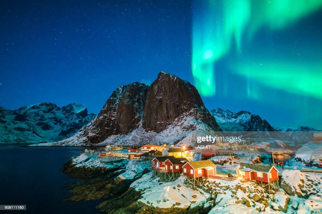 Bunte northern lights : Stock-Foto